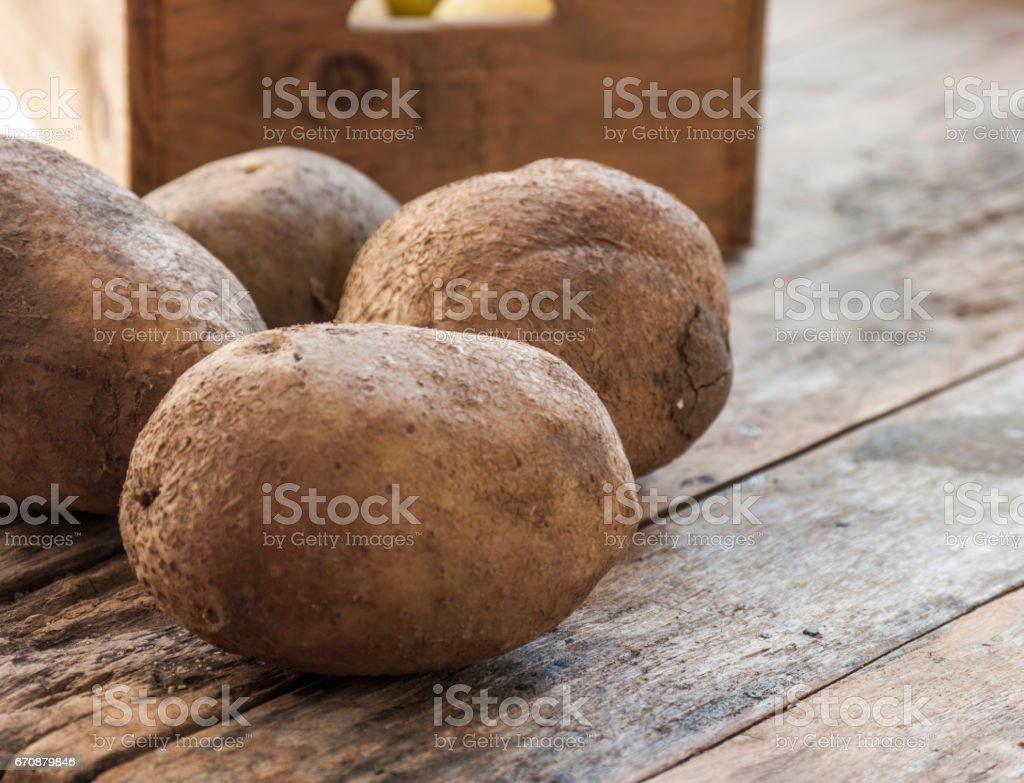 potatoes close up stock photo