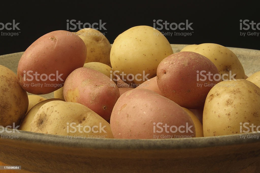 Potatoes Harvest on Black royalty-free stock photo