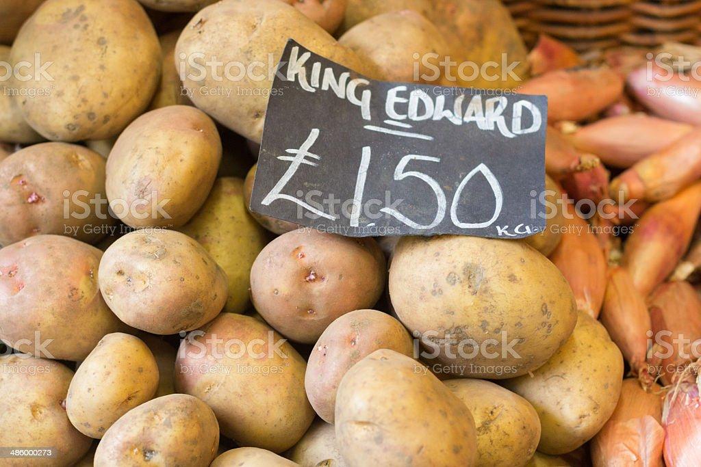 Potatoes in Borough Market, London royalty-free stock photo