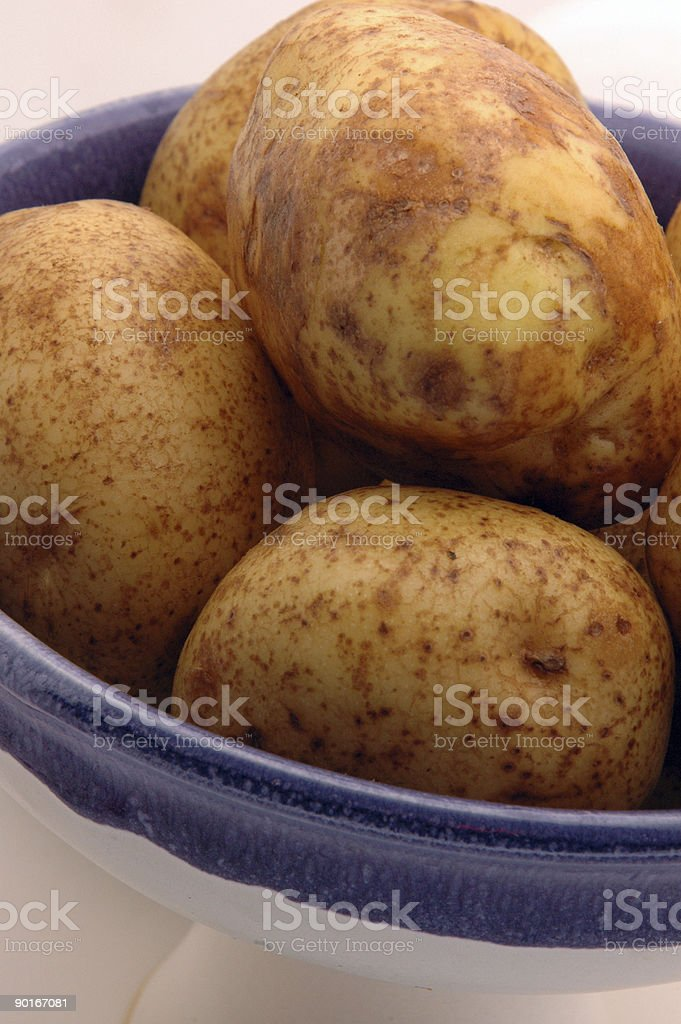 potatoes in bowl royalty-free stock photo