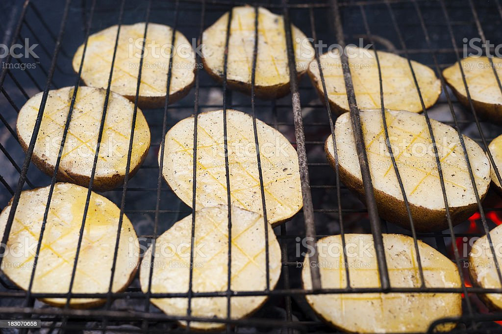 potatoes on the grill royalty-free stock photo