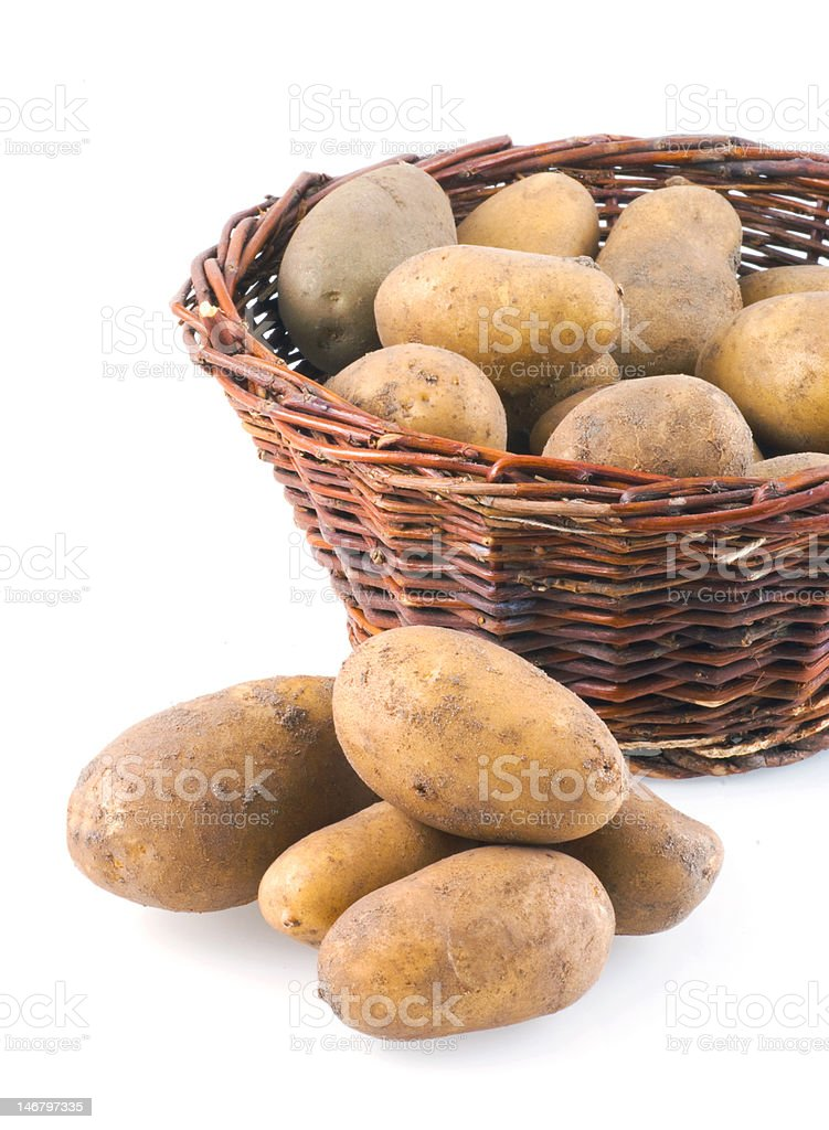 Potatoes. stock photo