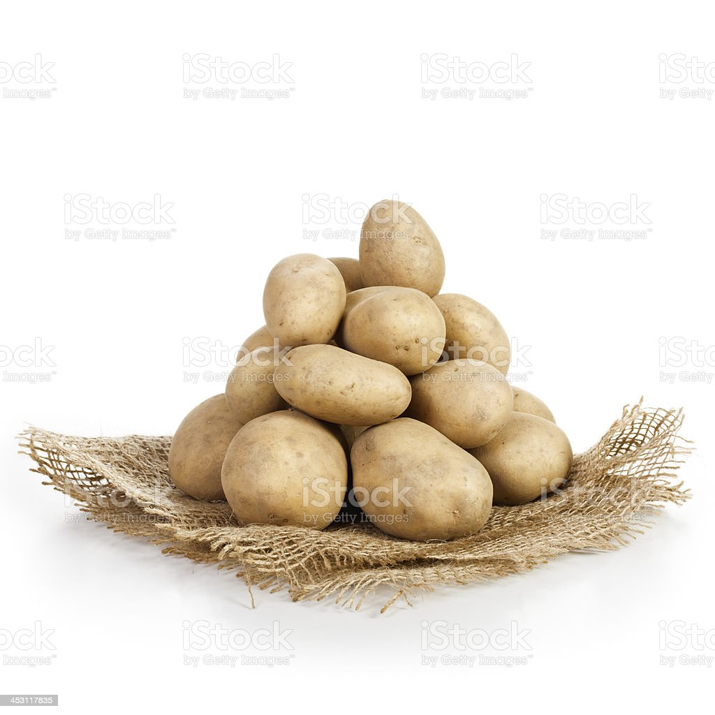 Potatoes Pile royalty-free stock photo