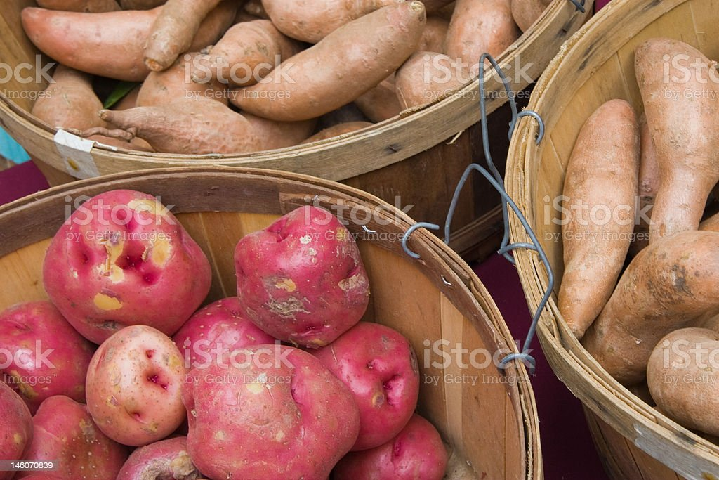 potatoes sweet and red royalty-free stock photo