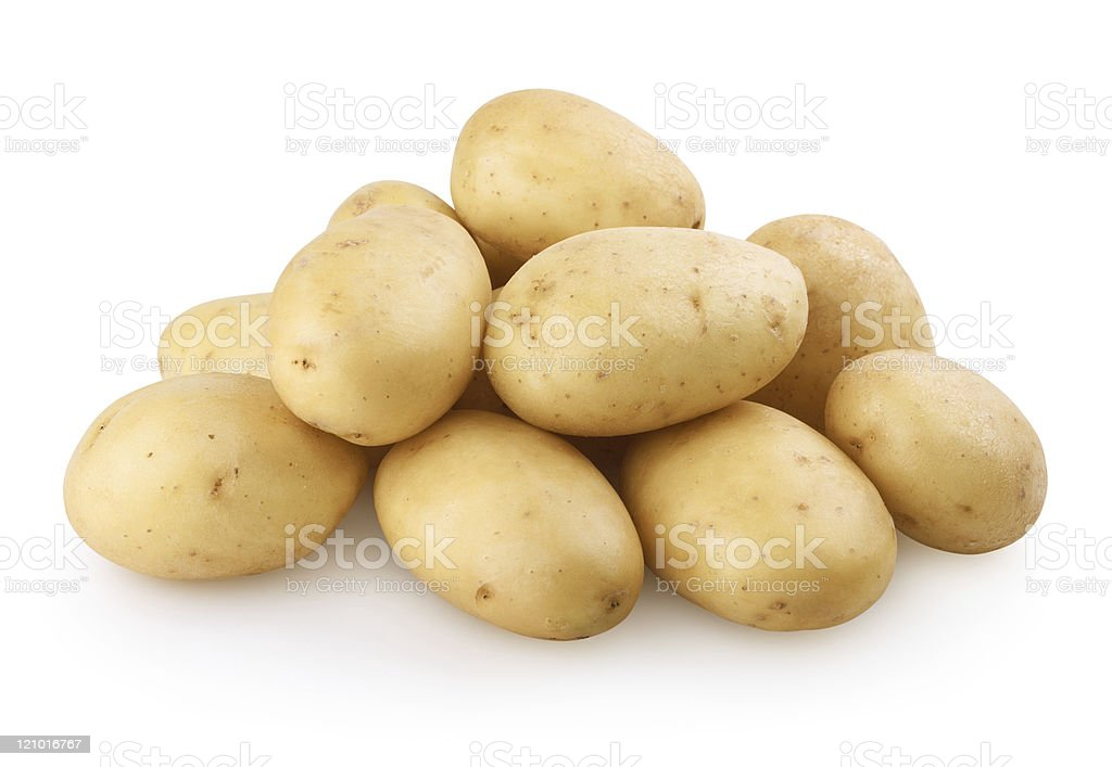 Potatoes with clipping path stock photo