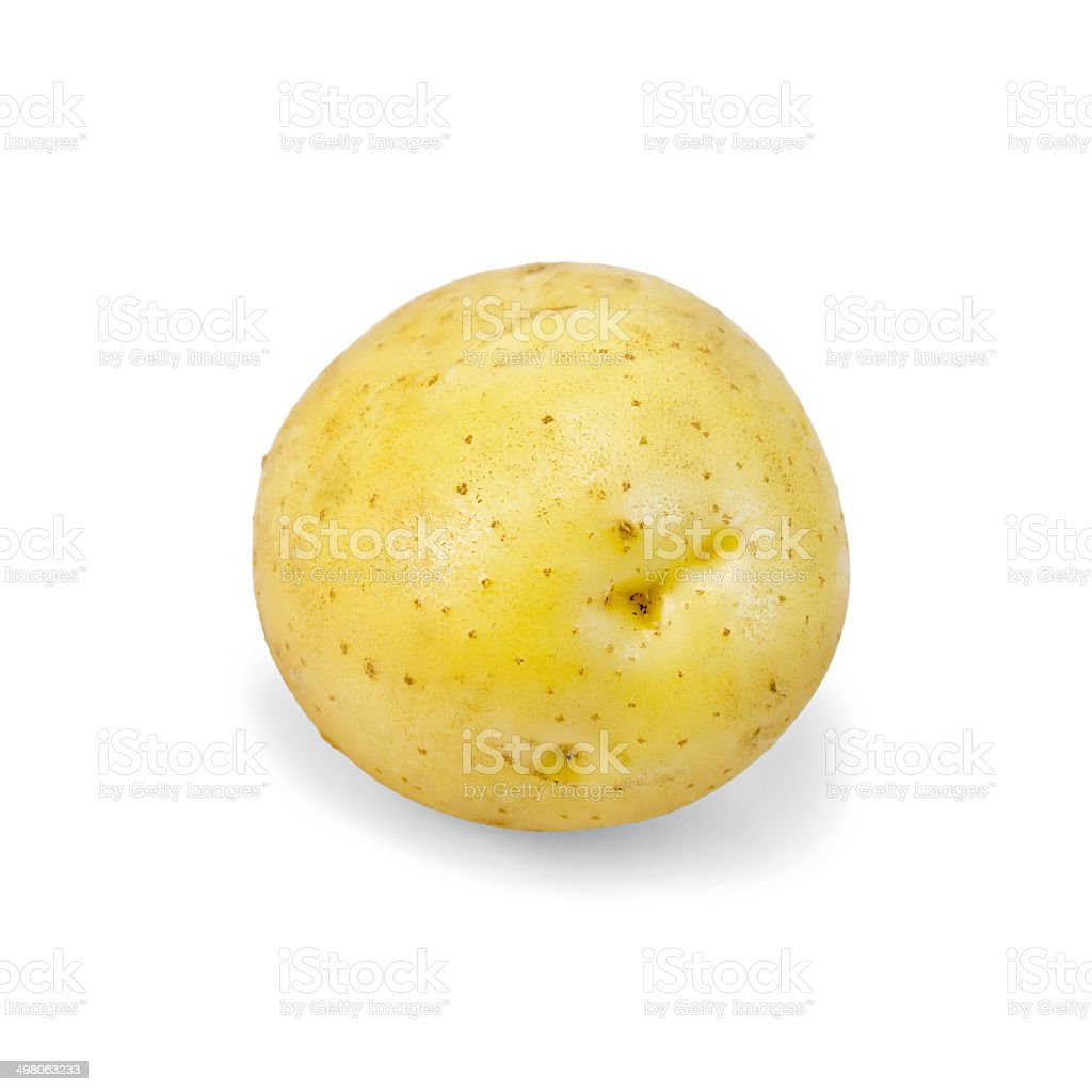 Potatoes yellow one royalty-free stock photo