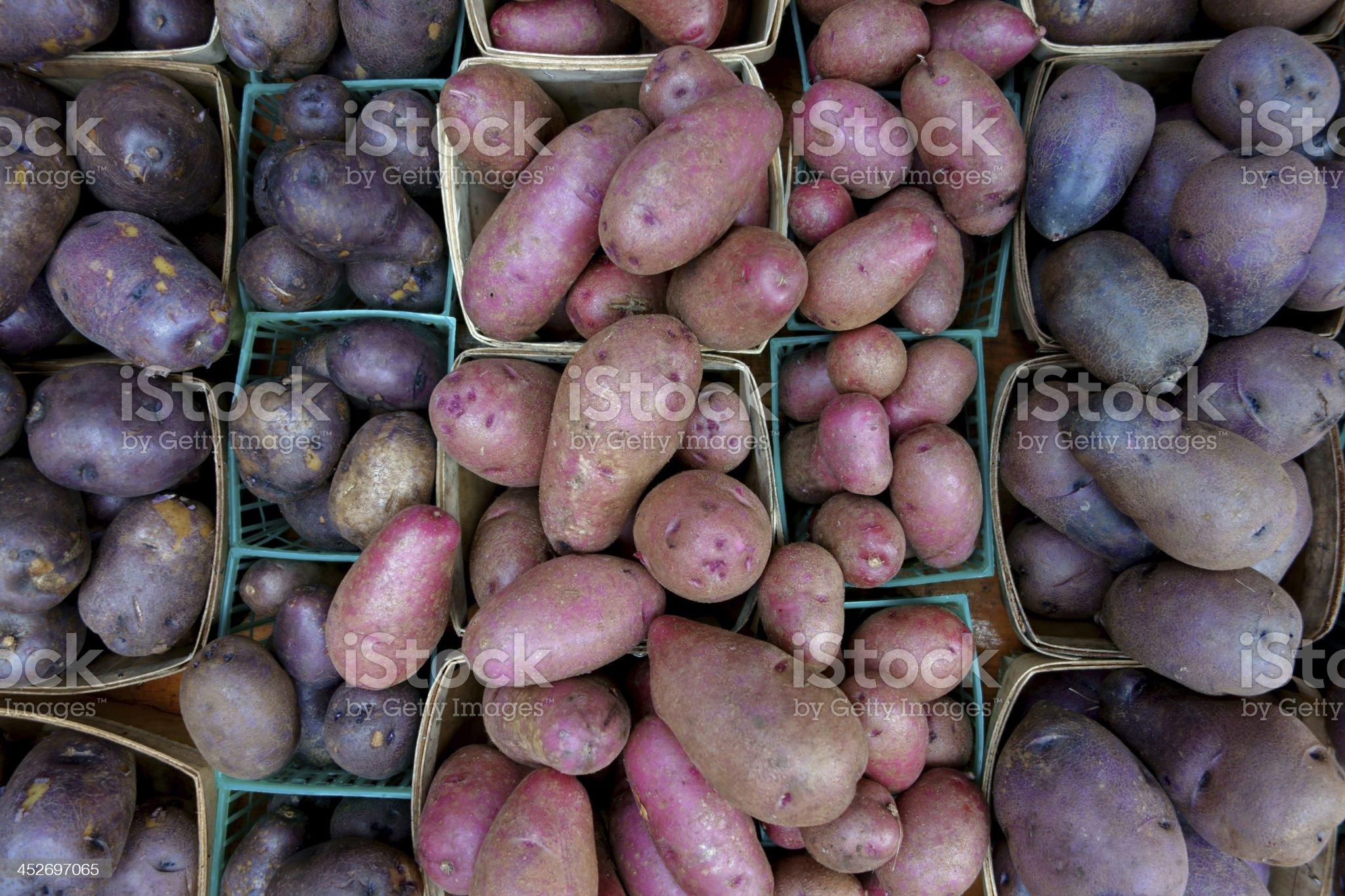 Potatos at Farmers Market royalty-free stock photo