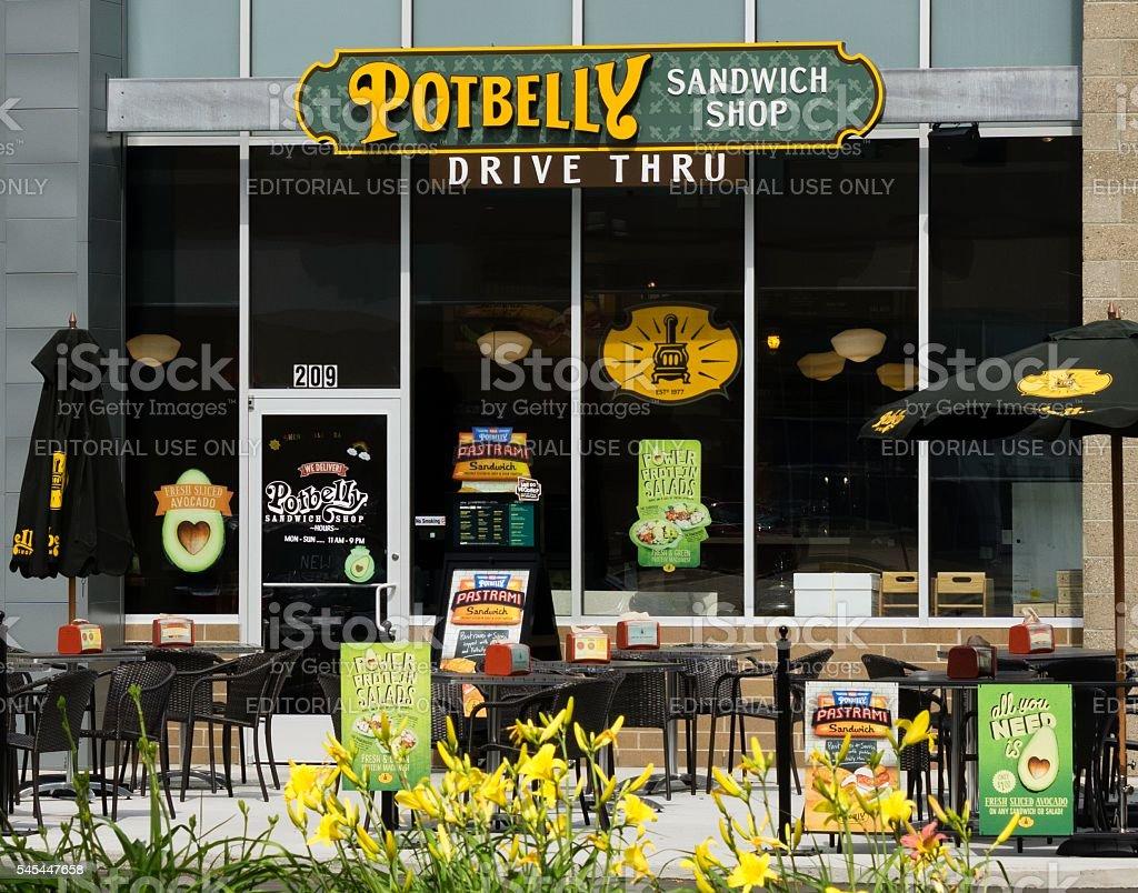 Potbelly Sandwich Shop stock photo