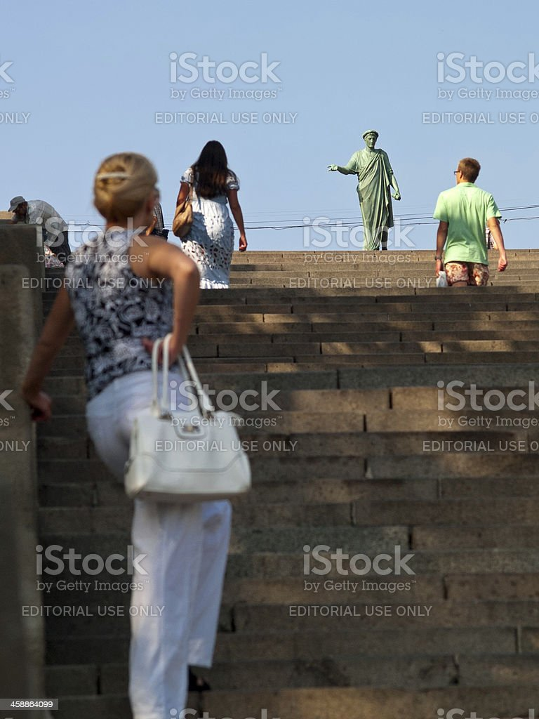 Potemkin Stairs One of the most beautiful staircases in Europe royalty-free stock photo
