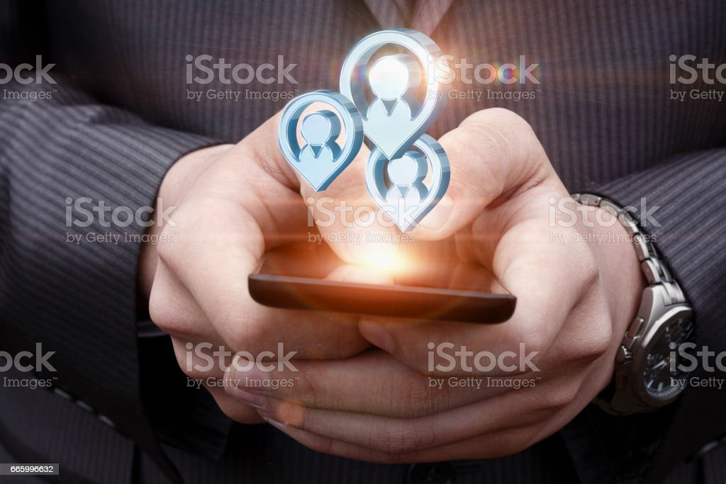 Potential important customers . stock photo