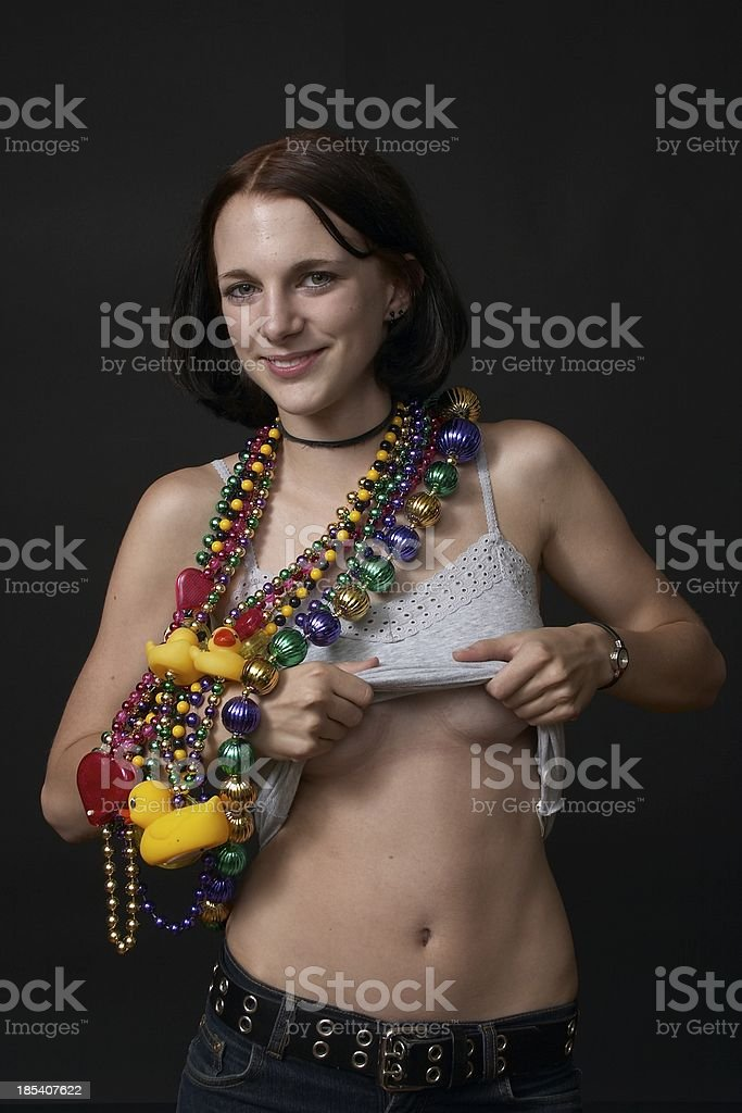potential mardi gras participant stock photo