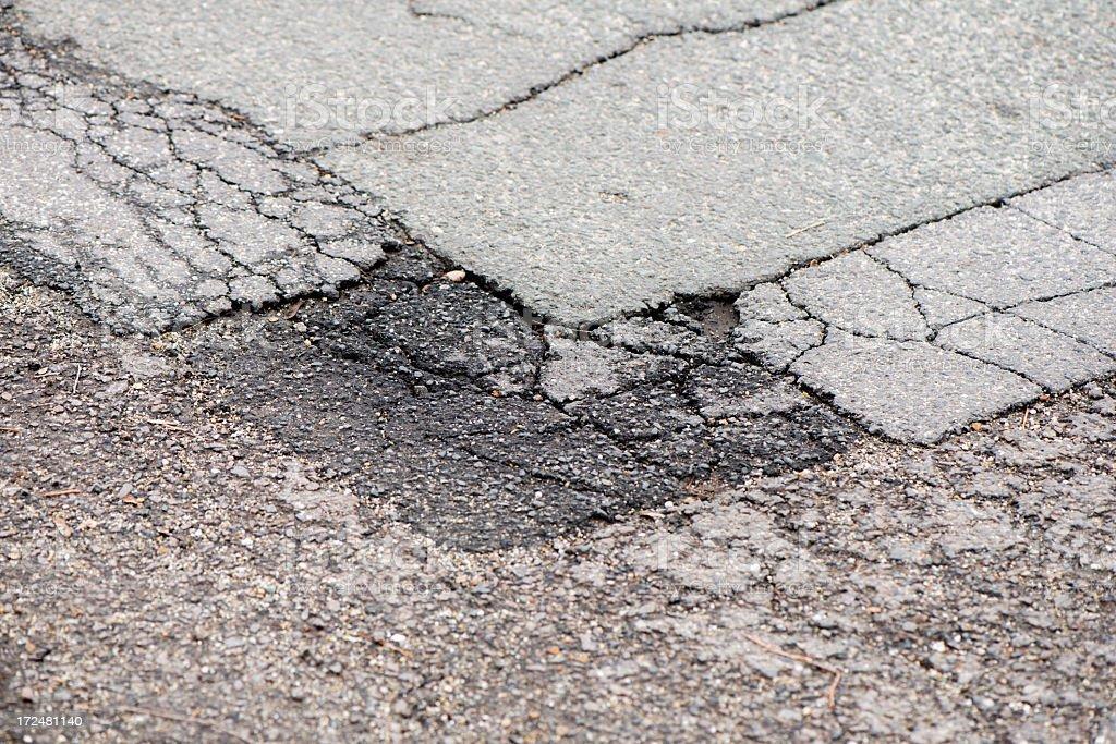 pothole stock photo