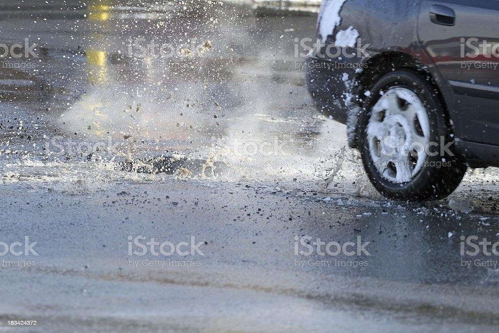 Pothole stock photo