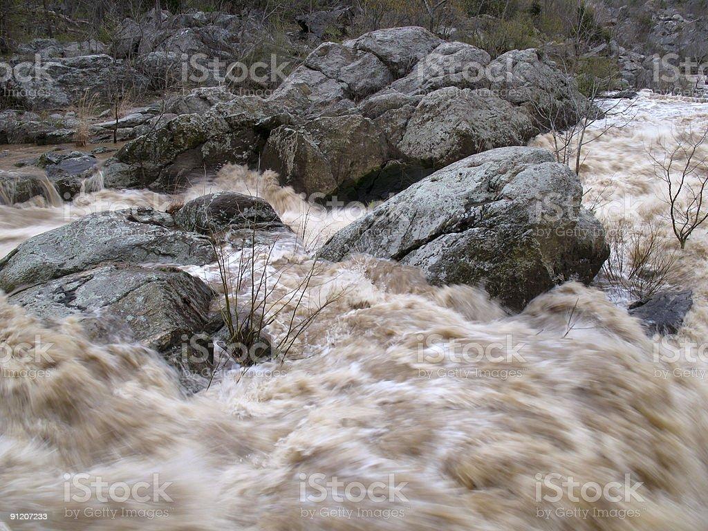 Potomac Flood Stage stock photo