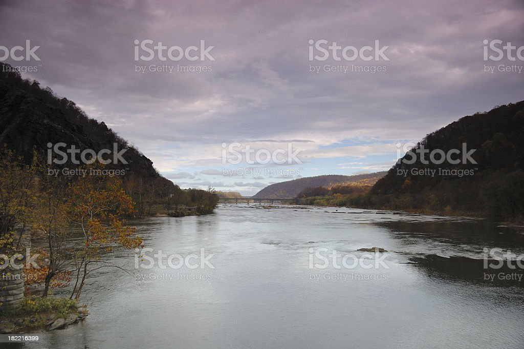 Potomac River from Harpers Ferry stock photo