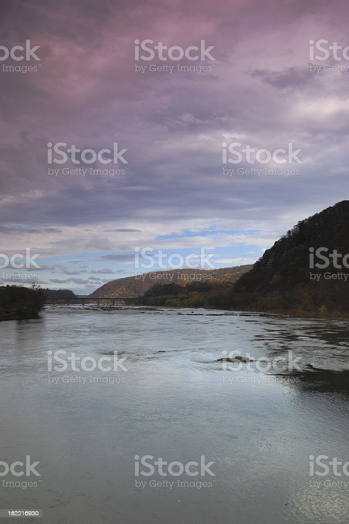 Potomac River from Harpers Ferry royalty-free stock photo