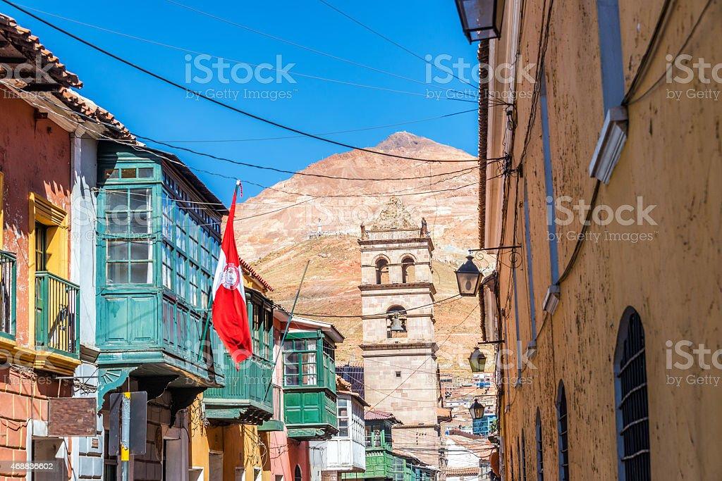 Potosi, Bolivia Street View stock photo