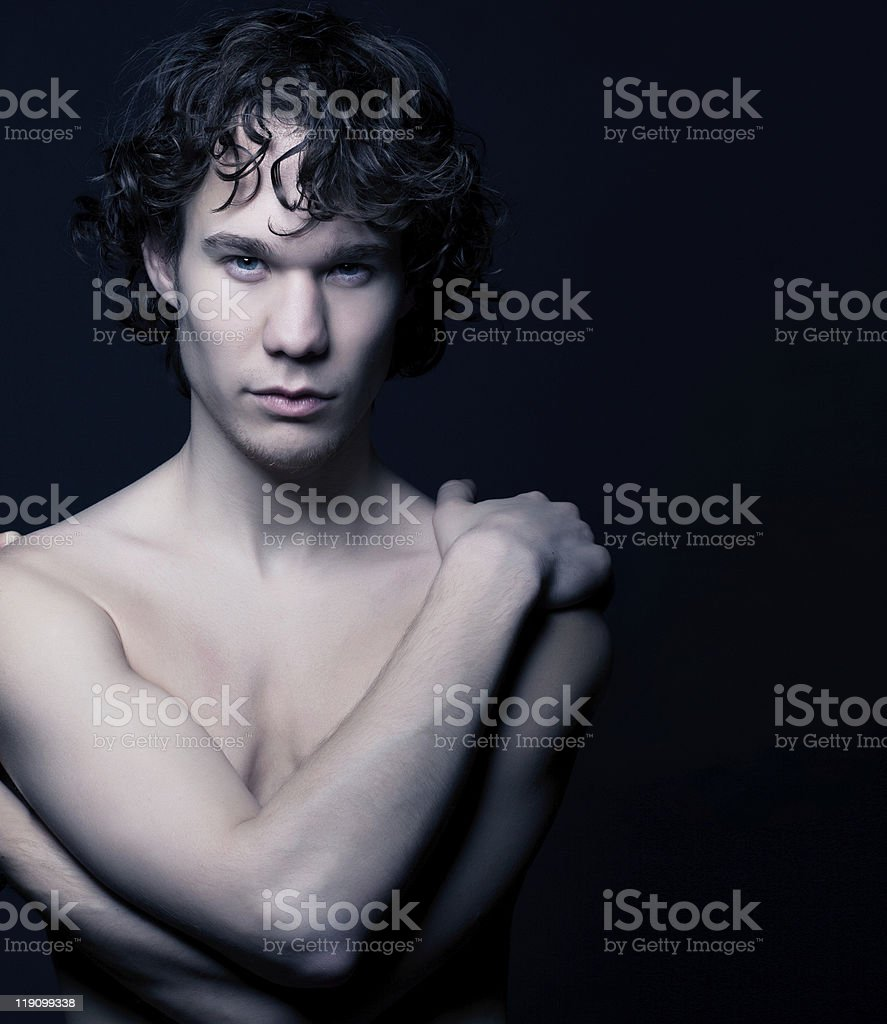 Potrait of a young man stock photo