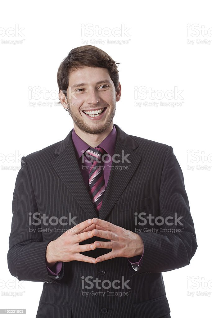 Potrait of businessman stock photo