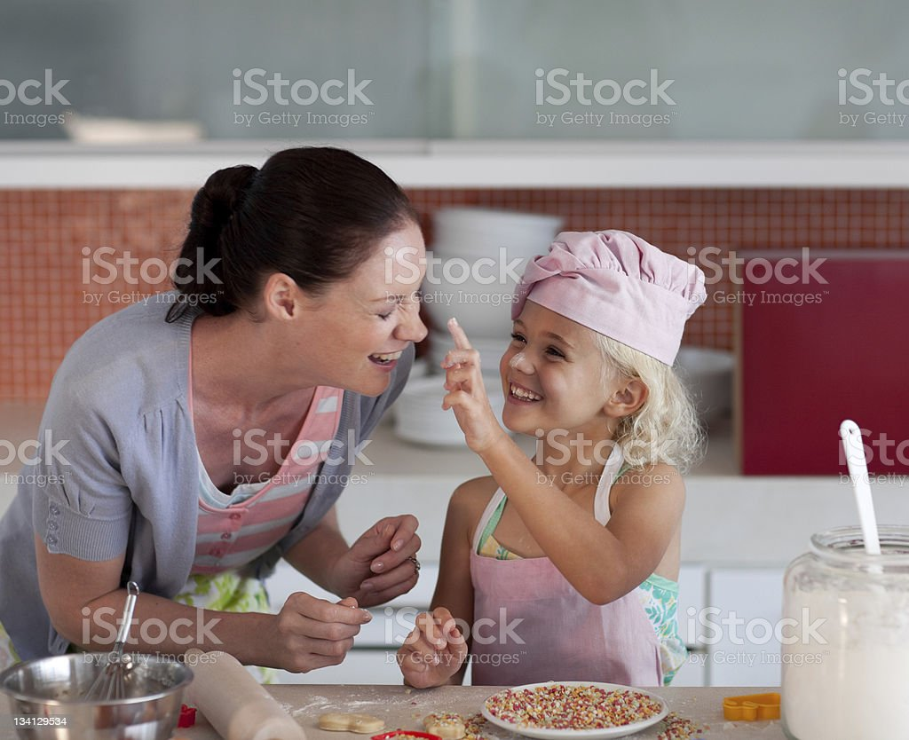 Potrait of mother and daugther having fun together royalty-free stock photo