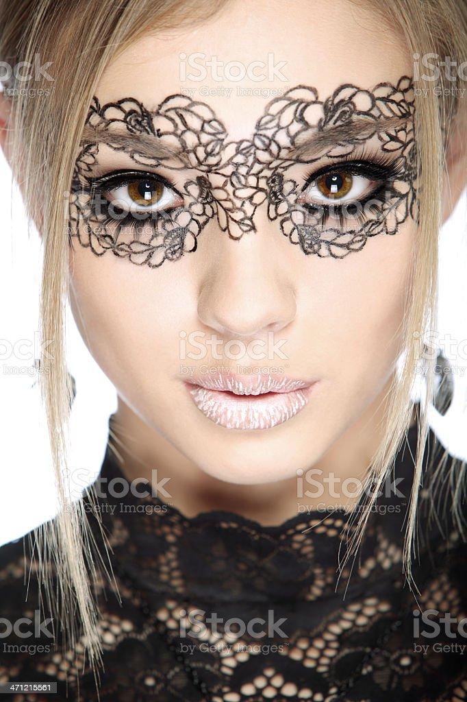 potrtrait of a beautiful young woman stock photo
