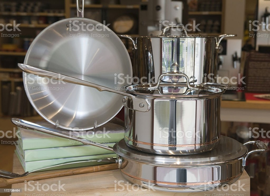 Pots and Pans On Display stock photo