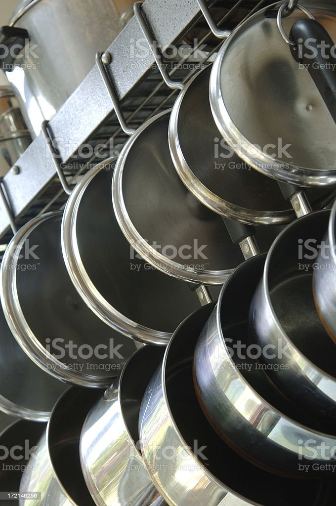 Pots and Pans stock photo