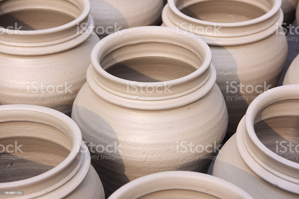 Pots Close-Up royalty-free stock photo