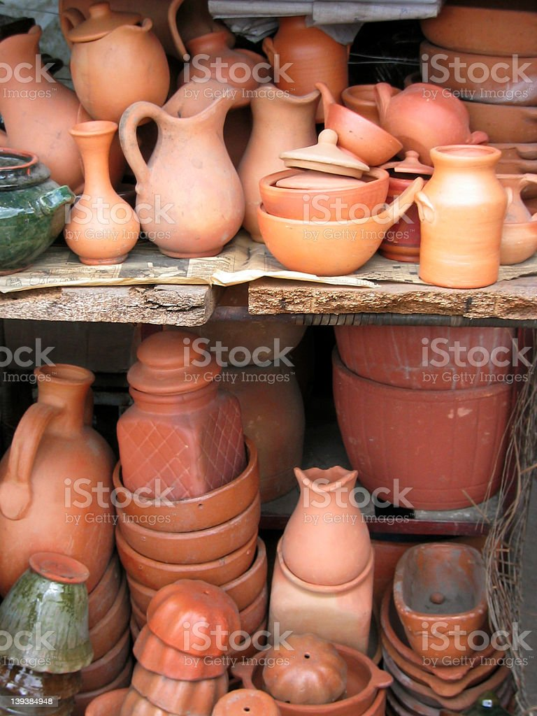 Pots for sale royalty-free stock photo