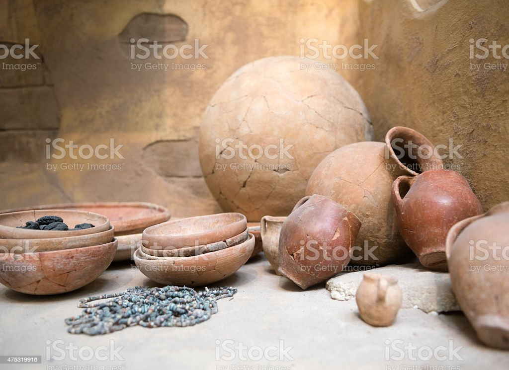 Pots, Jars and Vessels from the Bronze Age stock photo