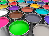 3D Pots of Paint of Paint