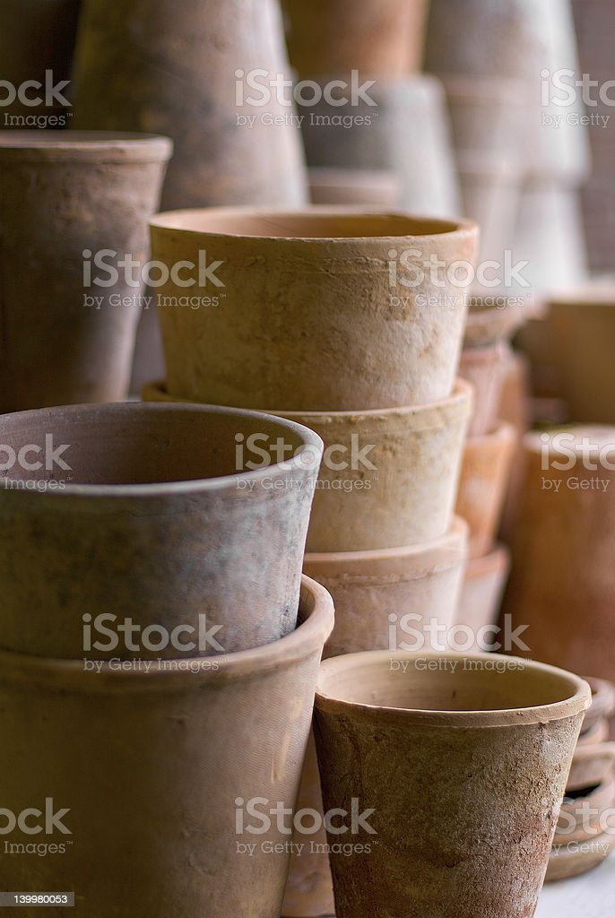 Pots stock photo