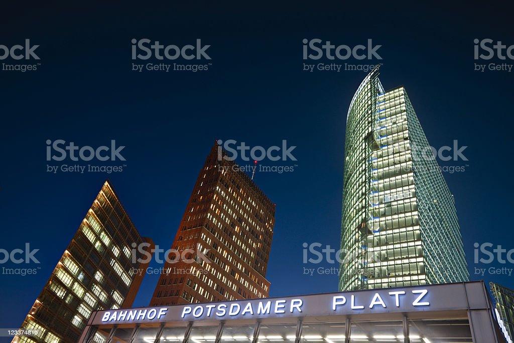 Potsdamer Platz At Night royalty-free stock photo
