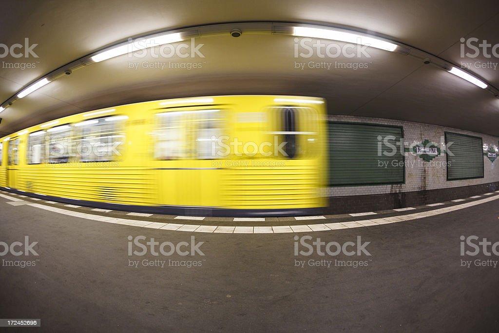 Potsdamer Platz subway platform royalty-free stock photo
