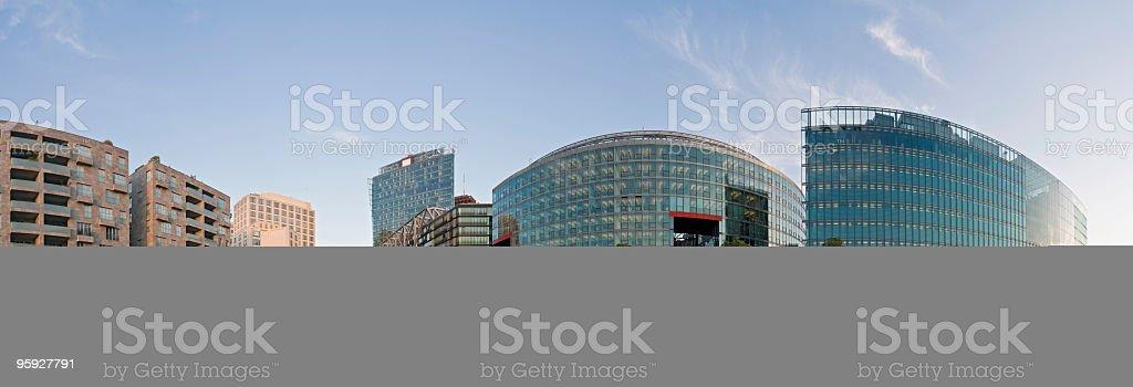 Potsdamer Platz sunlight glow royalty-free stock photo