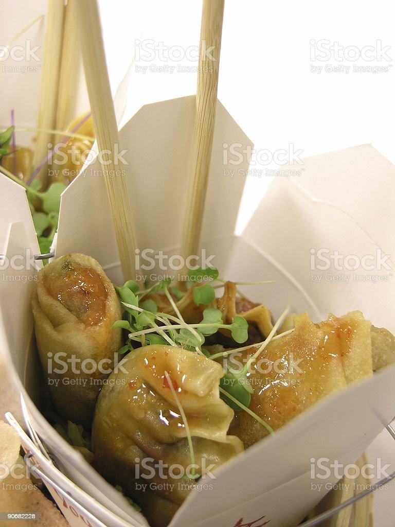 Potsticker ala Chinesse stock photo