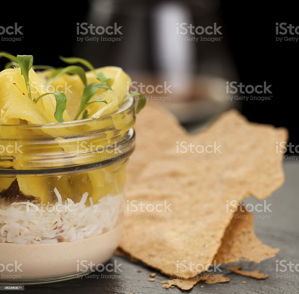 Potted Crab Close Up stock photo