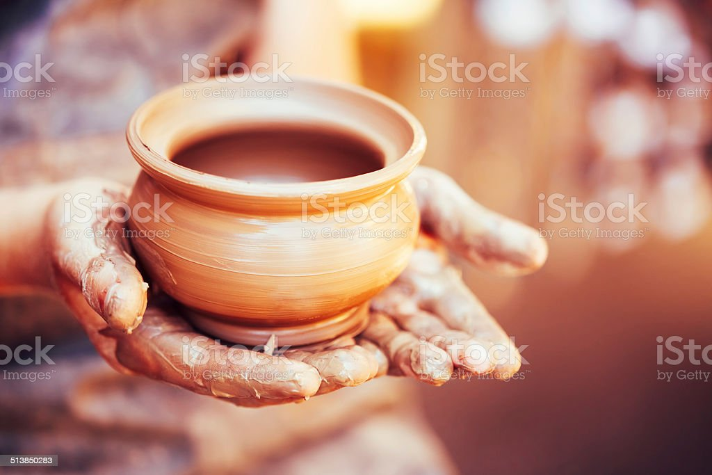 Potter And Clay Craft stock photo