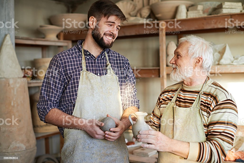 Potter and his learner stock photo