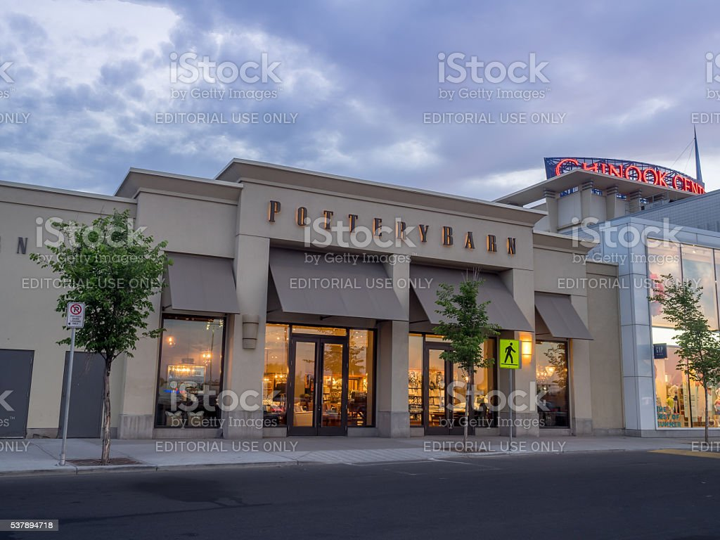 Potter Barn at Chinook Centre shopping mall stock photo