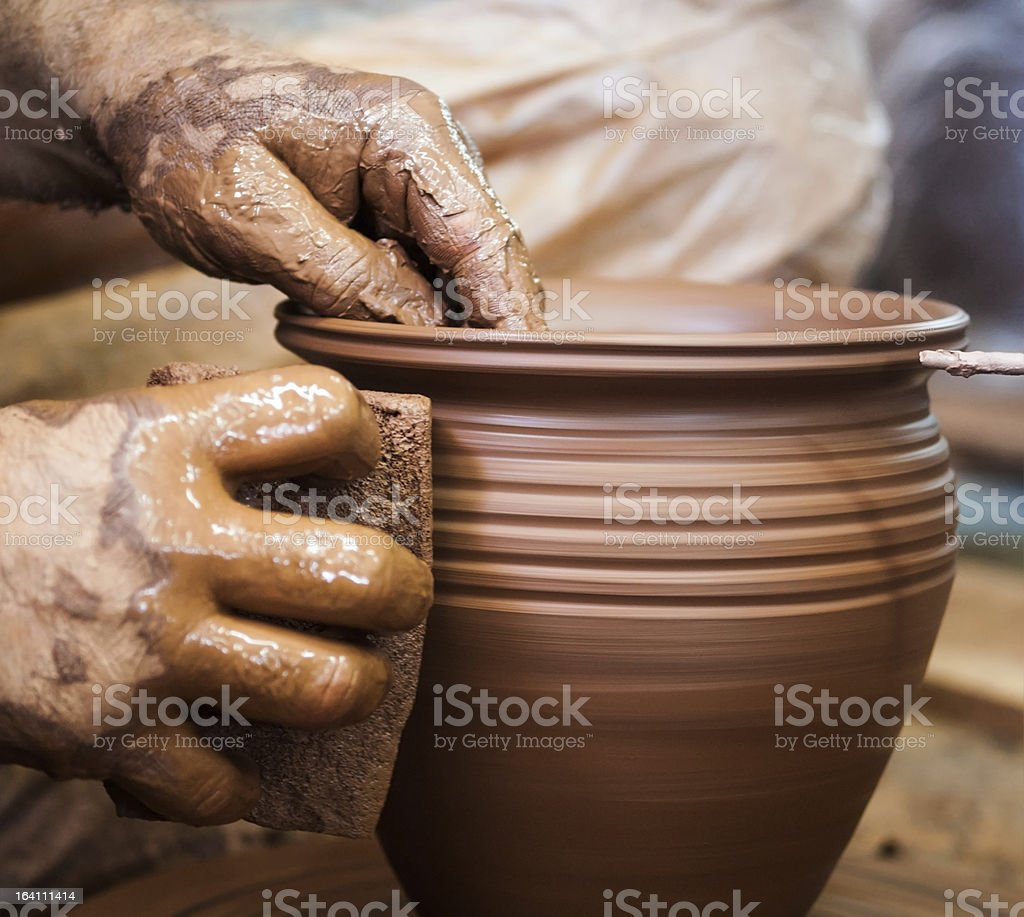 Potter hands stock photo