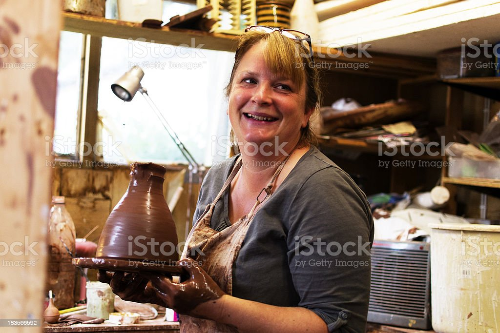 Potter shows off her latest creation stock photo