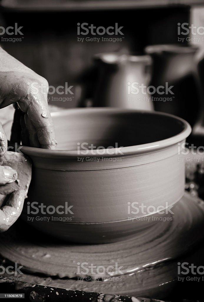 potter wheel scenes - creation stock photo