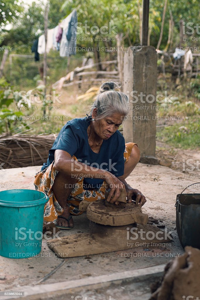 Potter woman stock photo
