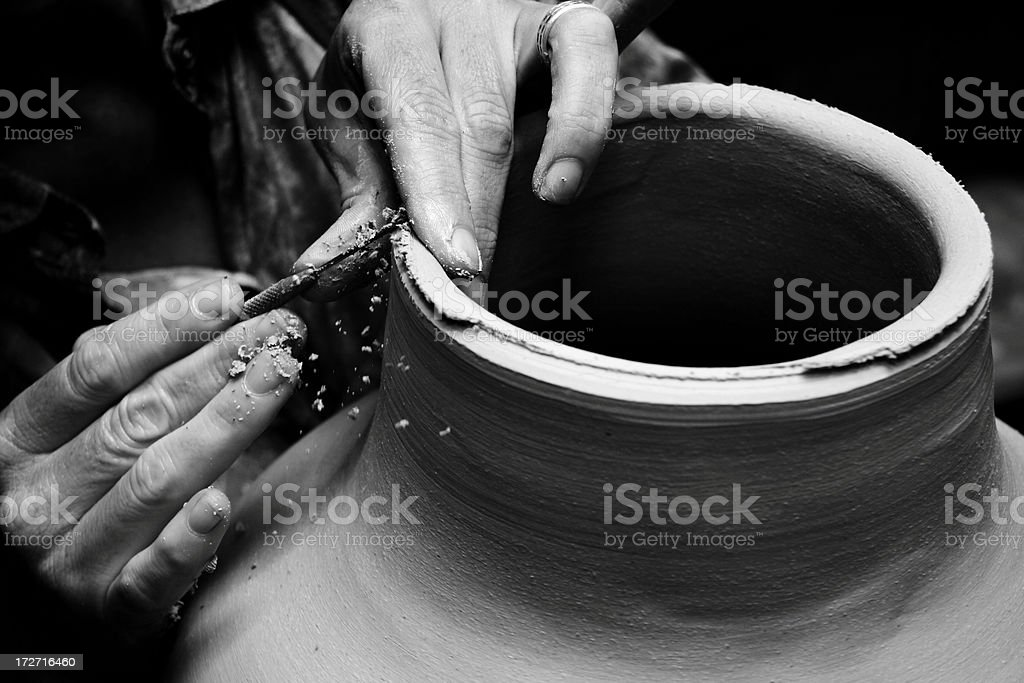 potter's care stock photo