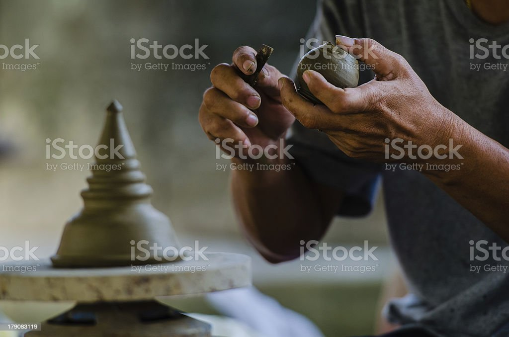 Potter's clay stock photo