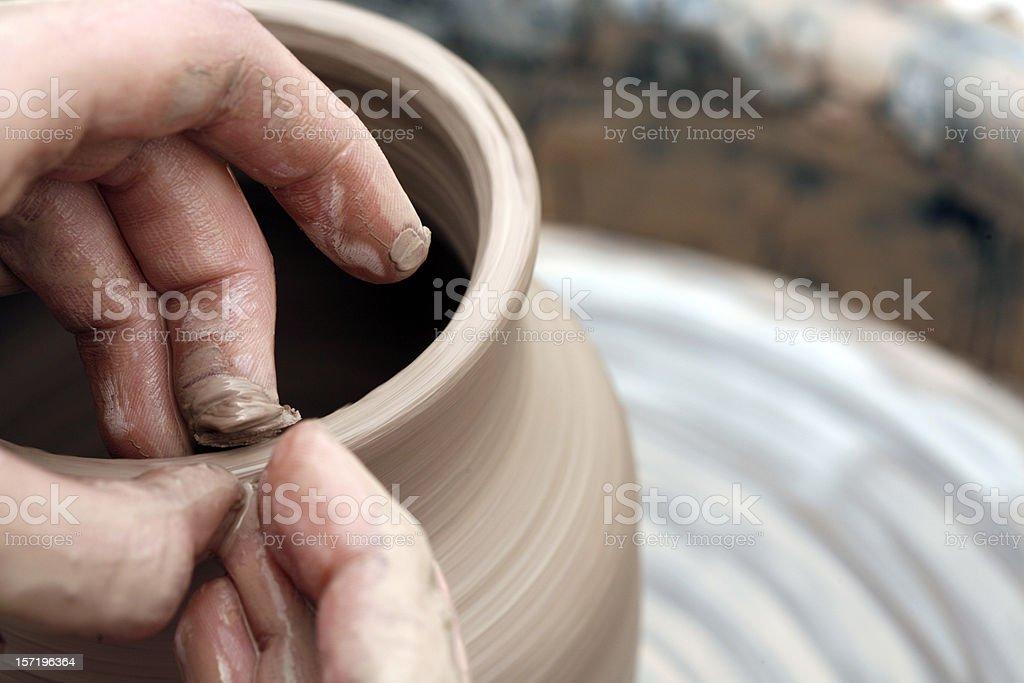 Potter's Hands stock photo