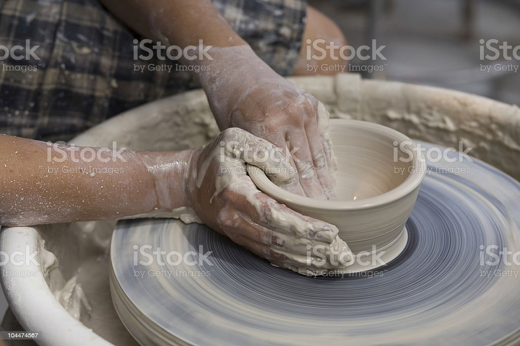 Potters Wheel stock photo