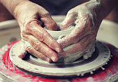 Potter's Wheel - Throwing Pottery