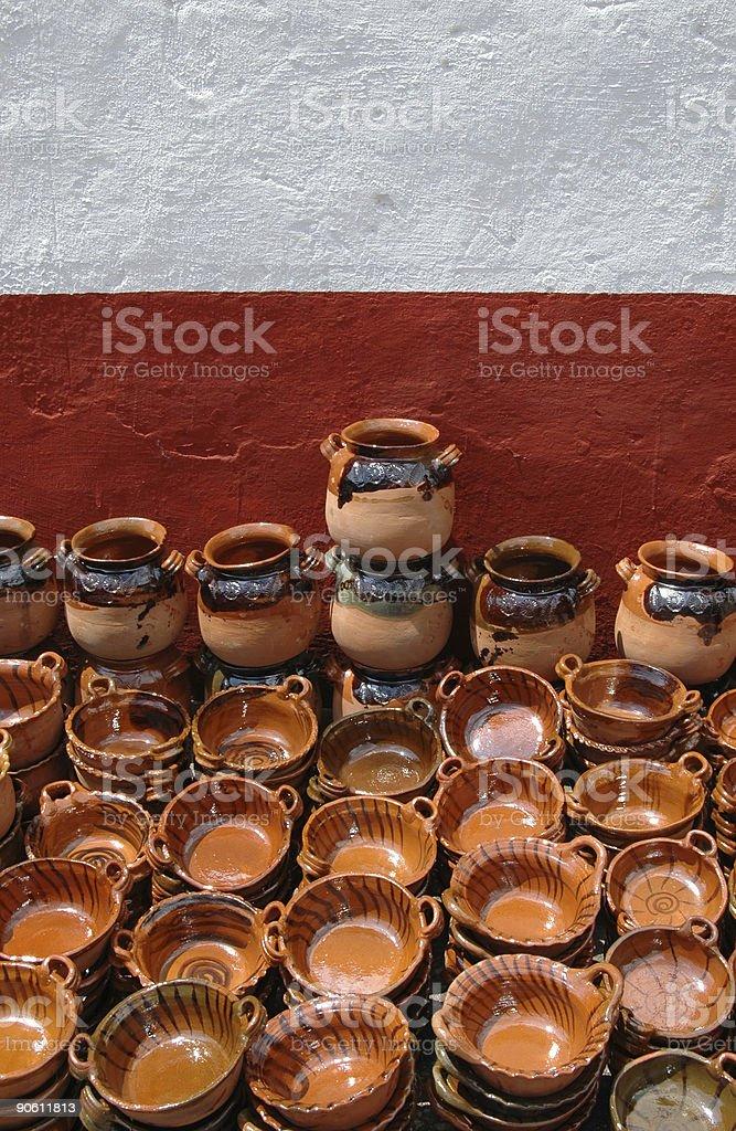 Глиняная посуда стены Стоковые фото Стоковая фотография